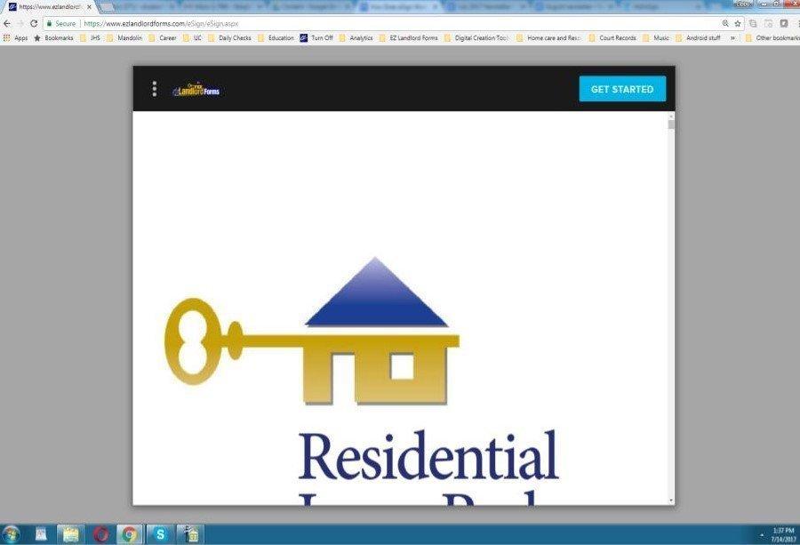 Starting eSignature for Rental Agreement